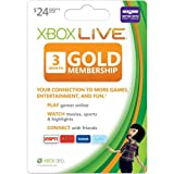 Xbox 360 Live Subscription Gold Card [Online Game Code]