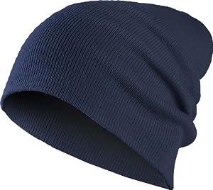 Beanie Basic Flap Navy