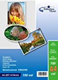 100 Feuilles EtikettenWorld Papier Photo A4 230g/qm Ultra brillant Imperméable à l'eau