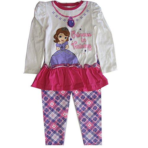 Disney Baby Girls Purple White Sofia the First Patterned 2 Pc Leggings Set 12M