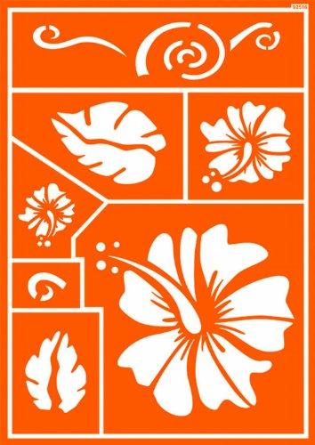 Javana 92516 - Textil Schablone selbsthaftend Hawaii Flower