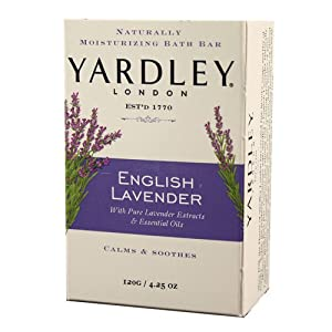 Yardley Yardley London Soap Bath Bar, English Lavender & Essential Oils, 4.25 Ounce /120 G (Pack Of 8), 8 Count