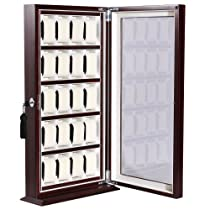 Commercial Superb 20 Watch Display Case Lock Statnd Box Luxury Showing Cabinet
