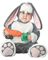 InCharacter Infant Bunny Costume, Dark Grey/White/Pink