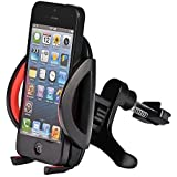 Car Mount,U-good Universal Smartphone Car Air Vent Mount Holder Cradle W/ 360°Rotate&Fast Release Button For iPhone 6 plus/6s/6/5s/5c,Samsung Galaxy S6/S5/S4,HTC one M8 and other Android phones(Black)