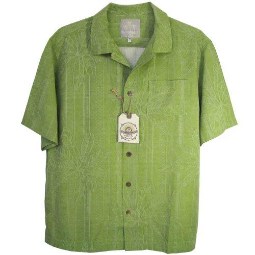 Margaritaville Men'S Leaf Border BBQ Shirt, Key Lime, X-Large