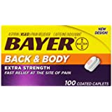 Bayer Extra Strength Caplets for Back and Body, 500 mg, 100 Count