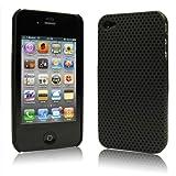 iPhone  4  ケース ハードプラスチック  ブラック 液晶保護フィルム   USB充電ケーブル付 送料無料