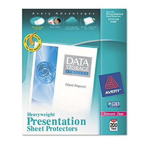 AVE74400 - Top-Load Poly Sheet Protectors