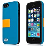 Ahha Archer Kickstand Back Case for Apple iPhone 5 / 5S / SE  - Blue / Yellow (A-KCIH5-0A3E)