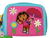 Nick Jr. Dora the Explorer Pink W/blue Trim Zipper Wallet - Dora Zipper Wallet