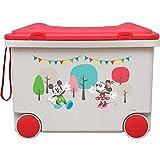アイリスオーヤマ おもちゃ箱 キッズ トイカート ディズニー ミッキー&ミニー NKTC-450
