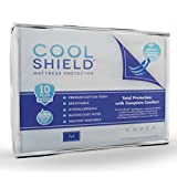 Cool Shield No Allergy Waterproof Mattress Protector - Breathable Terry Cover Protects Against Dust Mites, Allergens, Bacteria, Mold and Fluids - See Reviews - Machine Washable Mattress Protector - Best 10-yr Guarantee - Size: Full (54 in x 75 in)