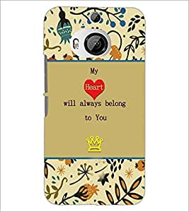 PrintDhaba Quote D-3670 Back Case Cover for HTC ONE M9 PLUS (Multi-Coloured)