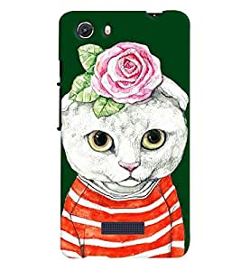 printtech Cat Back Case Cover for Micromax Q372 Unite 3