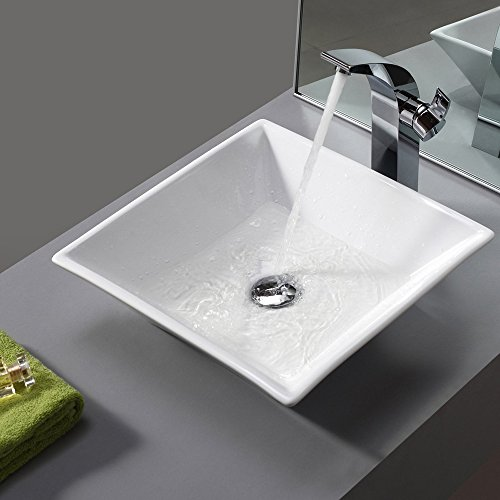 Vessel Sink Above Counter White Countertop Bowl Sink for Lavatory ...