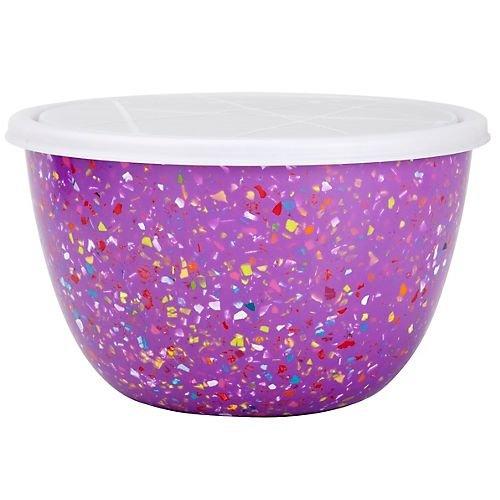 Zak! Designs 2-qt. Confetti Serving Bowl with Lid, Orchid (Zak Designs Mixing Bowls compare prices)
