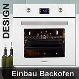 Einbau-Backofen BO6453W Farb-Design weiß + 11 Backofen-Funktionen