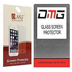 DMG Screen Protector Combo for 1 Tempered Glass Screen Protector + 1 Matte Screen Guard for LAVA IRIS X8 [Unbreakable Metal Box Packing]