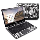 Zebra Stripes Design Protective Decal Skin Sticker (Matte Satin Coating) for Acer C7 C710-2847 Chromebook