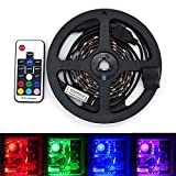 Staroad RGB LED Light Kit Includes 2pcs of 4-Pin IP65 Waterproof RGB 5050 SMD Strip Lights for Computer Car Stair Christmas Motorcycle