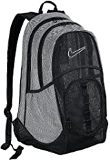 Nike Brasilia 5 XL Mesh Backpack (Black/Matte Silver)