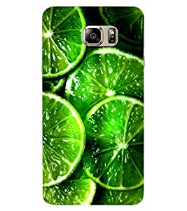 ColourCraft Leamon Pattern Design Back Case Cover for SAMSUNG GALAXY NOTE 6