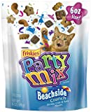 Friskies Party Mix, Beachside Crunch Cat Treats, Shrimp, Crab & Tuna Flavors, 6-Ounce Pouches (Pack of 7)