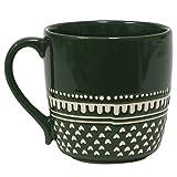 Hand Stitched Green Mug