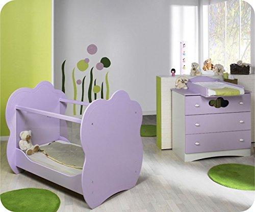 Mini Babyzimmer Altea weiß lila mit Wickelfläche jetzt bestellen