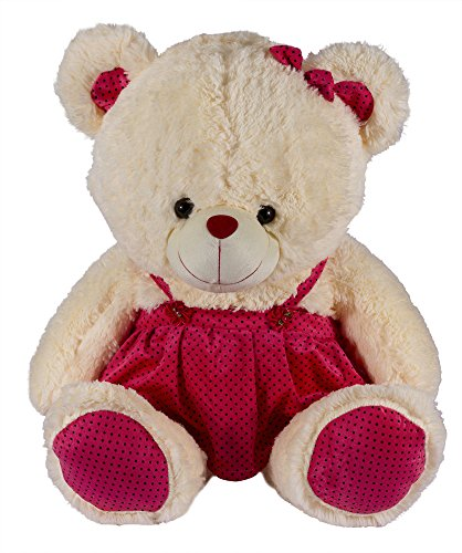 Dhoom-Soft-Toys-Teddy-Bear-Girl-Dress-Dress-Colors-May-Change-Cream-35-CM
