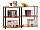 Furinno Multipurpose Storage Shelves Cabinet Bookcase Bookshelf , Cherry Finish, 99634