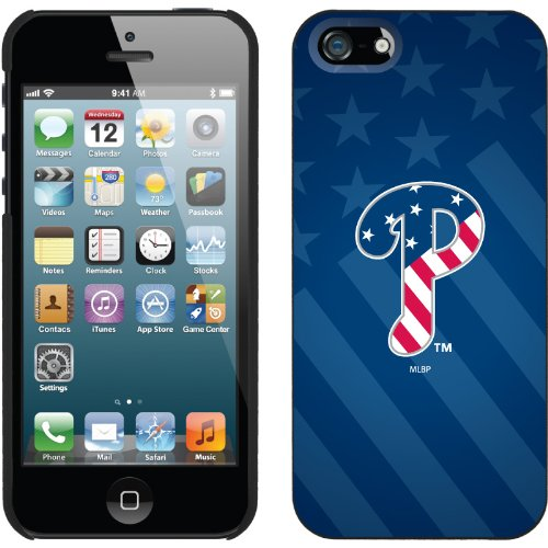 Best Price Philadelphia Phillies - USA Blue design on a Black iPhone 5 Thinshield Snap-On Case by Coveroo