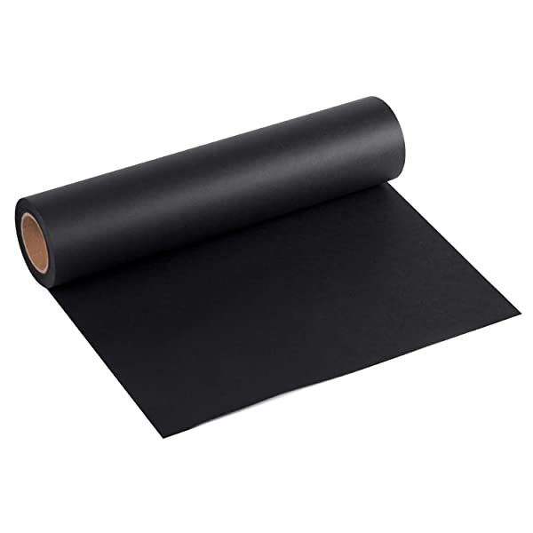 36 inch x 100 Feet Parcel Craft Dunnage Table Runner Recycled Paper Perfect for Gift Wrapping RUSPEPA Black Kraft Paper Roll Packing Floor Covering