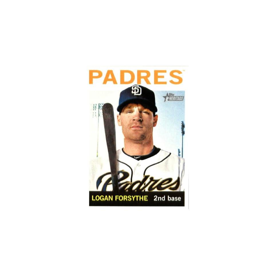 2013 Topps Heritage Baseball Card IN SCREWDOWN CASE #424 Logan Forsythe ENCASED