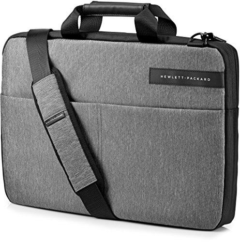 HP Custodia Slim con Apertura dall'Alto per Notebook Fino 15,6 Pollici, Grigio Porpora/Nero