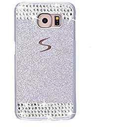 Galaxy S7 Case,Inspirationc® eauty Luxury Diamond Hybrid Glitter Bling Hard Shiny Sparkling with Crystal Rhinestone Cover Case for Samsung Galaxy S7--Silver Diamond