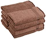 Superior Egyptian Cotton 8-Piece Hand Towel Set, Mocha