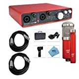 Focusrite Scarlett 6i6 USB Audio Interface with MXL 550/551R, XLR Cables Bundle