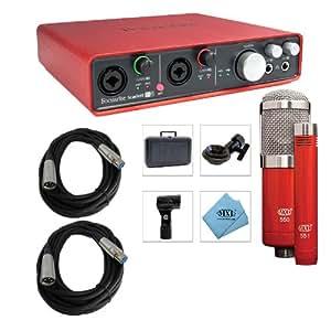 focusrite scarlett 6i6 usb audio interface with mxl 550 551r xlr cables bundle. Black Bedroom Furniture Sets. Home Design Ideas