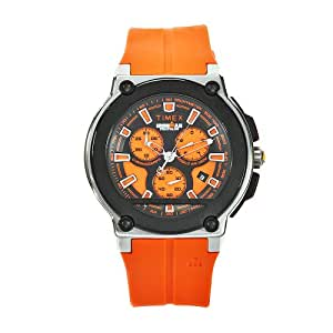 Amazon.com: Timex Men's T5K351 Ironman Dress Orange Rubber ...