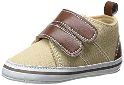 Luvable Friends Canvas Hook & Loop Boys Shoes (Infant), Tan, 0-6 Months M US Infant