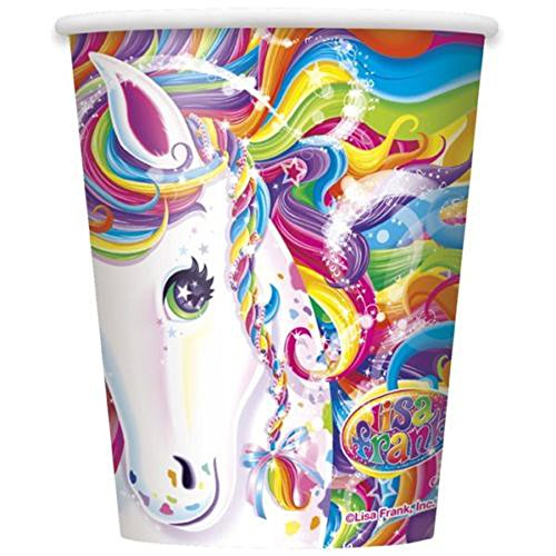 RAINBOW MAJESTY LISA FRANK HORSE Birthday Party Supplies 9 oz Paper CUPS new