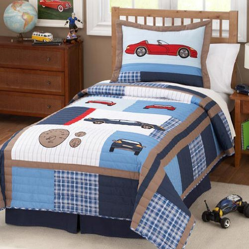 Boys Plaid Bedding 4695 front