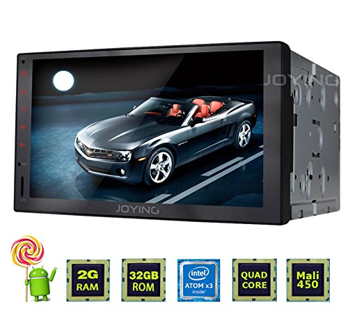 JOYING 7 Stereo Car Android 5.1 2GB RAM Bluetooth 4.0 Intel Quad Core Touch Screen Double Din Head Unit Car Radio Navigation Receiver Tablet Auto Audio Media Player (Quad Core Android Tablet 2gb Ram compare prices)