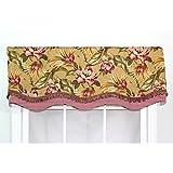 Metro Shop RLF Home Tea Stain Cotton 16-inch Malibu Palm Glory Valance