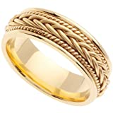 Handmade Braided 14k Yellow Gold Band (6MM)