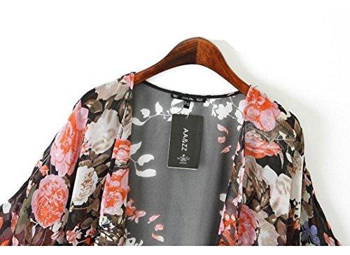 Orangesky Vintage Floral Kimono Boho Chiffon Cardigan 3