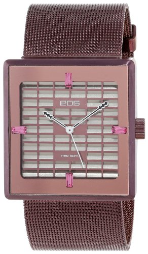 EOS New York Women's 303SBUR Petra Stainless Steel Mesh Burgundy Watch