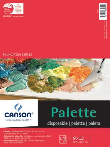 Canson Disposable Palette (40 Sheet Pad) Acrylics - 9 X 12